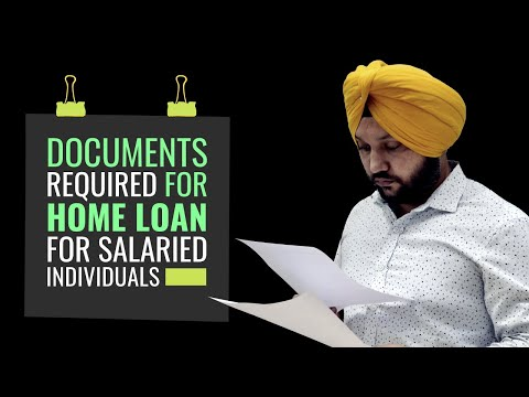 Documents Required for Home Loan - Salaried Individuals
