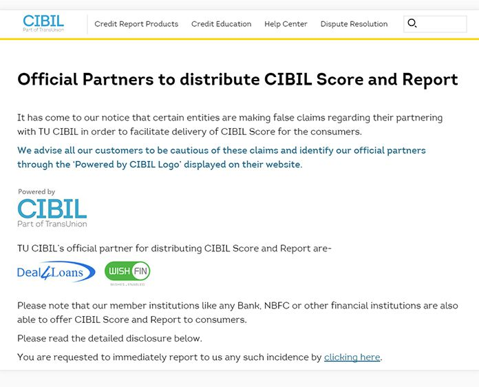 free cibil score checks