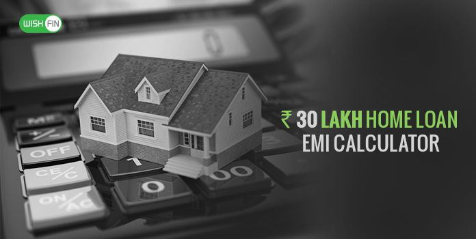 30 Lakh Home Loan EMI Calculator